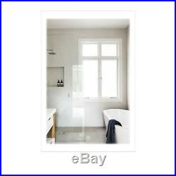 24x36 LED Bathroom Makeup Vanity Wall Mirror With Defogger Touch Button