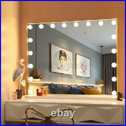 25'' Whtie Hollywood Makeup Vanity Mirror LED Light Dimmer Cosmetic Beauty Stage