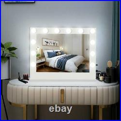 32L Hollywood Makeup Vanity Mirror with Light Stage Large Beauty Mirror White