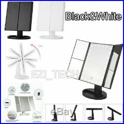 Beautify Makeup Mirror Vanity 24 LED Light Illuminated Tri-Fold Touch Dimmable