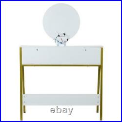 Bedroom Makeup Vanity Dressing Table Desk with 3 Variable Touch LED Light Mirror