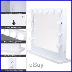 Chende White Hollywood Makeup Vanity Mirror with Light Large Mirror For Stage