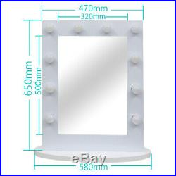 Chende White Vanity Lighted Hollywood Makeup Mirror Dimmable Stage Beauty Mirror