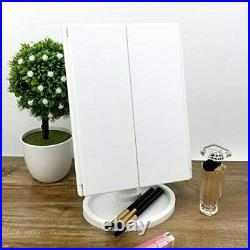 Cosmetic Makeup Mirror With 24 LED Light Up For Makeup Vanity Dressing Table UK
