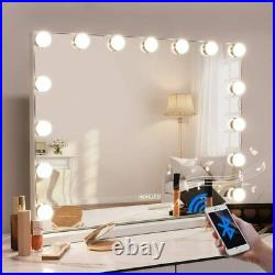 FENCHILIN Hollywood Vanity Bluetooth Mirror with Lights Lighted Makeup Mirror