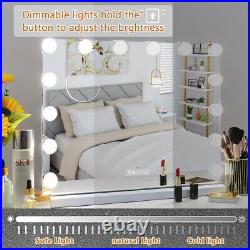 FENCHILIN Hollywood Vanity Makeup Mirror with Lights Bluetooth 14 LED Bulbs