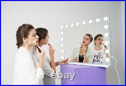 FENCHILIN Hollywood Vanity Makeup Mirror with Lights Large LED Wall Mirror White