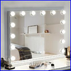 FENCHILIN Hollywood Vanity Mirror with Lights Makeup Vanity Mirror 14 LED Bulbs