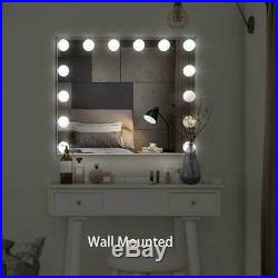 Hollywood Makeup Lighted Vanity Mirror with Lights Bulb Dimmer Tabletop Wall