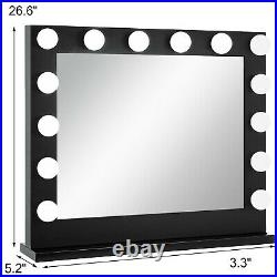 Hollywood Makeup Vanity Mirror with Light Dimmer Stage Beauty Mirror