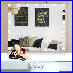 Hollywood Makeup Vanity Mirror with Light Stage Beauty Mirror 17 LED Bulbs