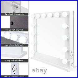 Hollywood Makeup Vanity Mirror with Lights Stage Large Beauty Dimmer LED Bulb