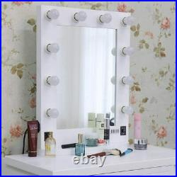 Hollywood Vanity Mirror with Light LED Lighted Makeup Dressing Table 10 Bulb Set