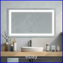 LED Bathroom Vanity Mirror with Light 40 x 24 Dimmable Anti-Fog Mirror Makeup