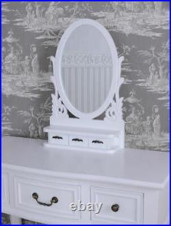 Make-Up Mirror Shabby Chic Vanity White Dressing Table Console Table