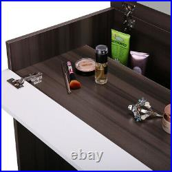 Makeup Vanity Table Dressing table withFlip-Up Mirror and Jewelry Storage
