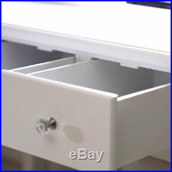 Makeup Vanity Table Set with 10 Lights Mirror and 5 Drawers Dressing Desk US