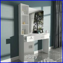 Pro Barber Vanity Makeup Table With Mirror & 3 Drawers Bedroon Dressing Table