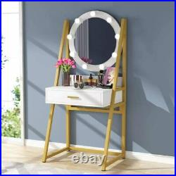 Tribesigns Makeup Vanity Dressing Table with 9 Lights and Drawer