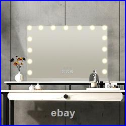 Vanity Makeup Mirror LED Kit Bulbs Lighted Dimmable Lamp Bluetooth Hollywood New