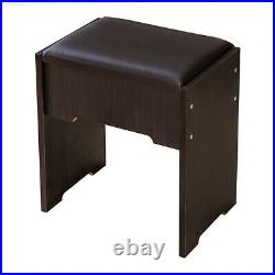 Vanity Set Dressing Makeup Table With 12 Lighted&Mirror&Cushioned Stool Drawer