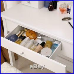 Vanity Set with Lighted Oval Mirror Makeup Dressing Table with 10 LED 3 Drawers