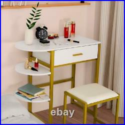Vanity Table Dressing Desk with Makeup Drawers Dressing Mirror With LED light