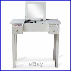 Vanity Table Makeup Desk Dressing Table with Dressing Mirror and Drawers White