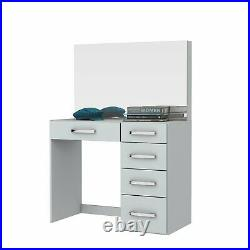 Vanity Table with Mirror and 5 Drawers, Makeup Dressing Table White finish