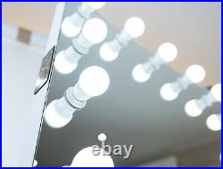 XL Hollywood Vanity Makeup Mirror LED Dimmable Touch Control Speakers & USB